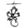 Toggle - Leaf 22mm Antique Silver